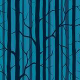 与树剪影的无缝的样式  库存图片