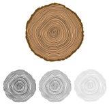 与树圆环的传染媒介概念性背景 库存图片