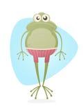 与树干的青蛙 免版税图库摄影