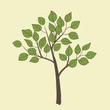 与树的卡片 免版税库存照片