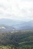 与树的样式的山风景 图库摄影