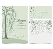 与树的邀请卡片 向量例证