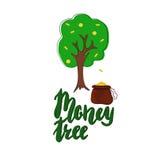 与树的金钱树 免版税库存图片