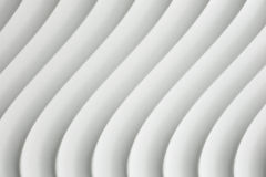 与树荫和阴影的白色曲线纹理 免版税库存照片