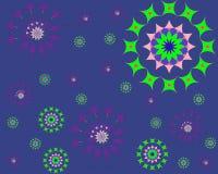与样式和多角形的抽象几何背景 向量例证