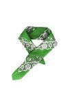 与样式的一块绿色班丹纳花绸,被隔绝 库存照片