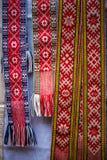 与样式的手工制造民族志学袜带 免版税库存图片