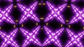 与样式的紫色坛场万花筒 库存例证