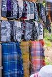 与样式的羊毛袜子 免版税图库摄影