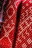 与样式的葡萄酒手工制造民间袜带 免版税库存照片