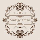 与样式的葡萄酒框架 免版税库存照片