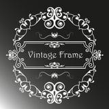 与样式的葡萄酒框架 图库摄影