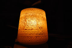 与样式的蜡烛在黑暗的背景 免版税库存照片