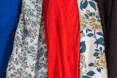 与样式的许多五颜六色的织品布料纹理 库存照片