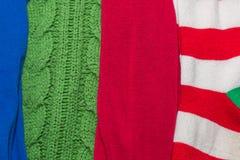 与样式的许多五颜六色的织品布料纹理 免版税库存图片