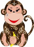 与样式的猴子, 免版税库存照片