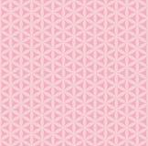 与桃红色几何形状的无缝的样式 库存例证