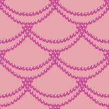 与桃红色小珠的无缝的样式 免版税库存图片