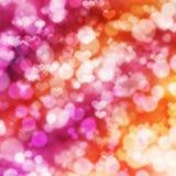 与桃红色心脏的抽象欢乐背景 免版税库存图片