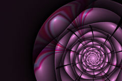 与桃红色玫瑰的黑背景 花纹理,分数维样式 免版税库存图片