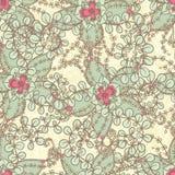 与桃红色花的模式 免版税库存图片