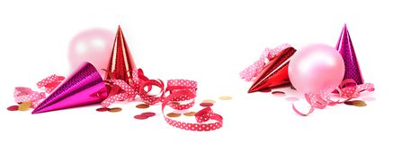 与桃红色装饰的狂欢节横幅 库存照片