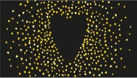 与桃红色闪烁心脏的华伦泰背景 2月14日天 华伦泰背景模板的传染媒介五彩纸屑 免版税库存图片