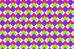 与桃红色,绿色,紫色菱形的无缝的样式 库存例证