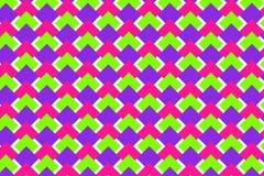 与桃红色,绿色,紫色菱形的样式 皇族释放例证