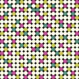 与桃红色,黄色和绿色圈子的无缝的样式 免版税库存图片