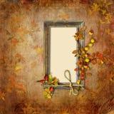 与框架的秋天背景 库存图片