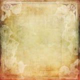 与框架的被弄脏的葡萄酒纸 免版税库存图片