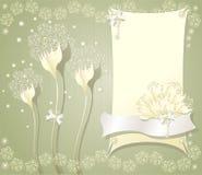 与框架花弓的典雅的花卉背景 免版税库存照片
