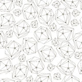 与框架水晶的抽象背景 纺织品的,墙纸,包装纸,网无缝的几何样式 向量例证