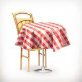 与桌和椅子的街道咖啡馆 库存照片