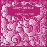 与梯度样式的圣诞节横幅 免版税库存图片