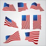 与梯度的美国国旗在白色背景 图库摄影