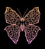 与梯度的蝴蝶 免版税库存照片