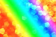 与梯度颜色的五颜六色的bokeh背景 免版税库存图片