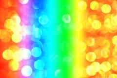 与梯度颜色的五颜六色的bokeh背景 库存照片