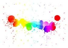 与梯度颜色的水彩污点 库存图片