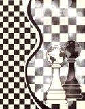 与棋典当的抽象横幅 库存图片