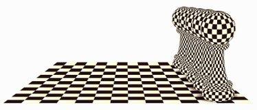 与棋典当的抽象背景,传染媒介 免版税库存照片