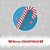 与棒棒糖的圣诞卡模板 库存图片