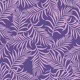 与棕榈叶的热带背景 无缝花卉的模式 S 免版税库存照片