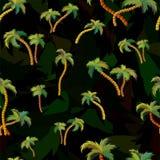 与棕榈树的传染媒介无缝的样式 库存例证