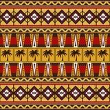 与棕榈树的部族非洲样式 库存例证