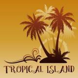 与棕榈的异乎寻常的风景 免版税库存照片