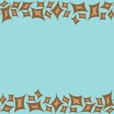与棕色rhombs的水平的样式框架 免版税图库摄影