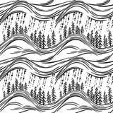 与森林的一个无缝的样式 免版税图库摄影
